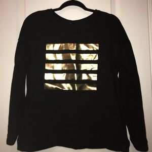 Forever 21 Black with Gold Stripes Sweater